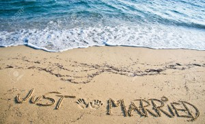 7540943-Just-Married-written-in-the-Sand-on-the-Beach-Stock-Photo-wedding-beach-romantic