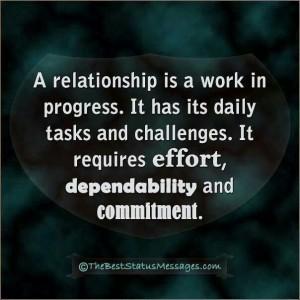 relationship work in progress