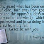 I Timothy 6 20