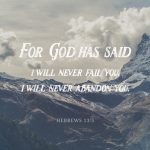 God will not abandon