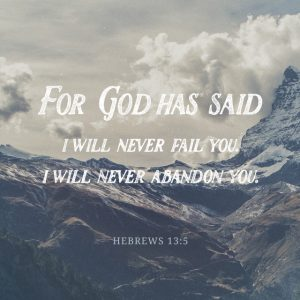 God will not abandon